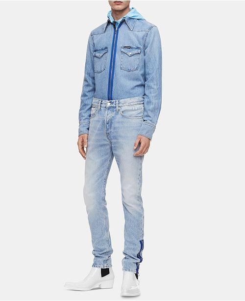 001e1ada Calvin Klein Jeans Men's Foundation Western Shirt & Reviews - Casual ...
