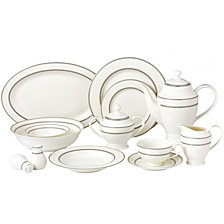 Lorren Home Trends Arianna 57-PC Dinnerware Set, Service for 8