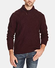 Weatherproof Vintage Men's Fisherman Shawl Collar Sweater