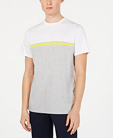 Calvin Klein Men's Front Panel Engineered Stripe T-Shirt