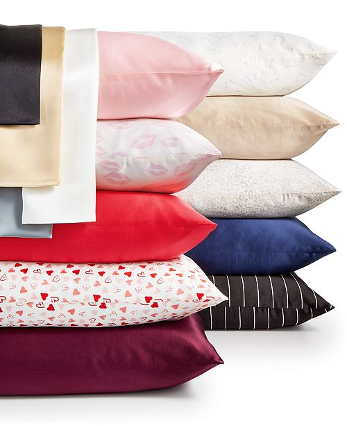 Silken Slumber Solid and Printed Silk Pillowcase Giftable Collection
