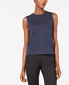 Anne Klein Sleeveless Crewneck Sweater