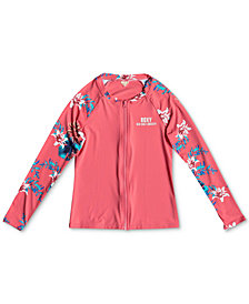 Roxy Big Girls Zip-Up Rash Guard
