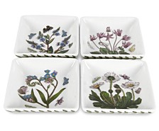 Portmeirion Botanic Garden Square Mini Dishes, Set of 4