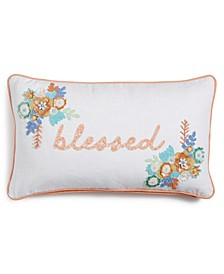 "CLOSEOUT!  Blessed 14"" x 24"" Decorative Pillow"