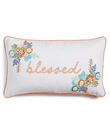 "Lacourte Blessed 14"" x 24"" Decorative Pillow"