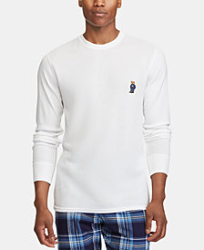 Polo Ralph Lauren Bear Men's Ultra Soft Waffle-Knit Thermal Shirt