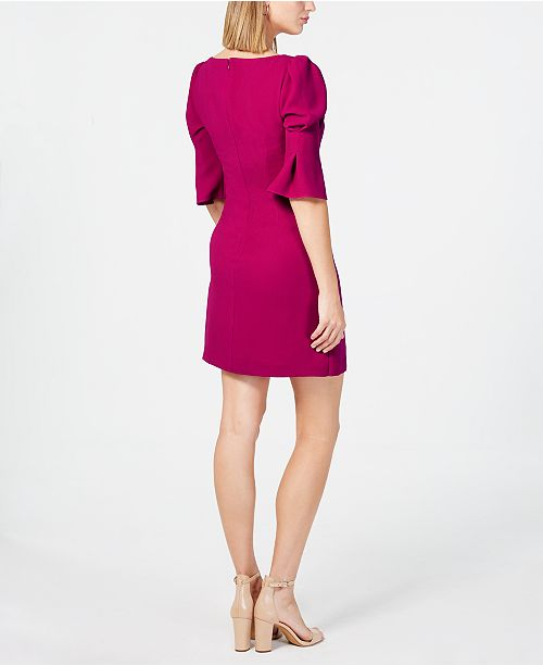4f0beef33535 Vince Camuto Puff-Sleeve Shift Dress   Reviews - Dresses - Women ...