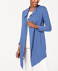 Anne Klein Draped Open-Front Jacket