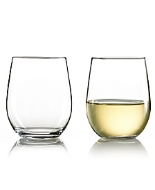 Wine Glasses, Set of 2 O Chardonnay Tumblers