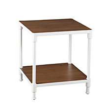 CLOSEOUT! Westmoor Industrial Square End Table with Storage Shelf