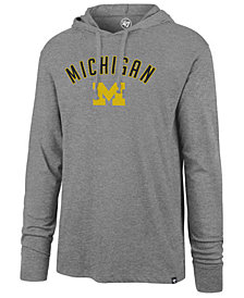 '47 Brand Men's Michigan Wolverines Long Sleeve Focus Hooded T-Shirt