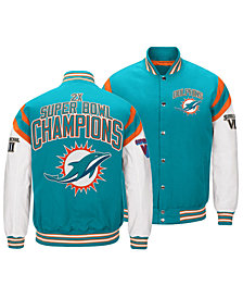 Authentic NFL Apparel Men's Miami Dolphins Home Team Varsity Jacket