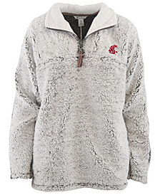Pressbox Women's Washington State Cougars Sherpa Quarter-Zip Pullover