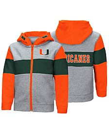 Colosseum Miami Hurricanes Colorblocked Full-Zip Sweatshirt, Toddler Boys (2T-4T)