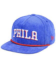 New Era Philadelphia 76ers Hardwood Classic Nights Cords 9FIFTY Snapback Cap