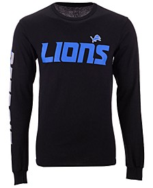Men's Detroit Lions Streak Route Long Sleeve T-Shirt