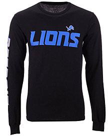 Authentic NFL Apparel Men's Detroit Lions Streak Route Long Sleeve T-Shirt