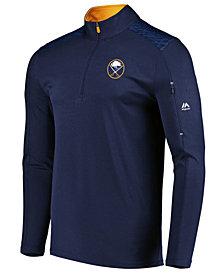 Majestic Men's Buffalo Sabres Ultra Streak Half-Zip Pullover