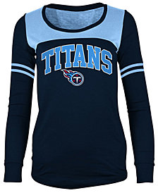 5th & Ocean Women's Tennessee Titans Sleeve Stripe Long Sleeve T-Shirt