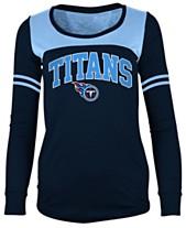 5th   Ocean Women s Tennessee Titans Sleeve Stripe Long Sleeve T-Shirt bbfc0f1ee4b