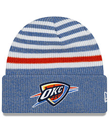 883739d86dbc34 New Era Oklahoma City Thunder Striped Cuff Knit Hat