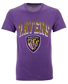 Authentic NFL Apparel Men's Baltimore Ravens Shadow Arch Retro T-Shirt