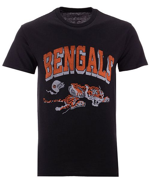 Authentic NFL Apparel Men's Cincinnati Bengals Shadow Arch Retro T-Shirt