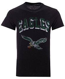 Authentic NFL Apparel Men's Philadelphia Eagles Shadow Arch Retro T-Shirt