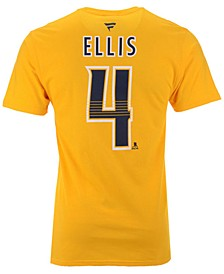 Men's Ryan Ellis Nashville Predators Authentic Stack Name & Number T-Shirt