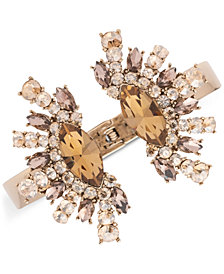 Givenchy Gold-Tone Crystal Statement Cuff Bracelet
