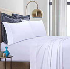 Tribeca Living 500 Thread Count Cotton Percale Extra Deep Pocket Full Sheet Set