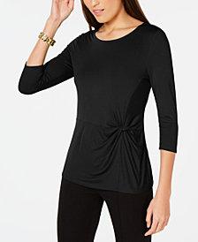 Alfani Petite Side-Twist Top, Created for Macy's