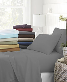 Solids in Style by The Home Collection 6 Piece Bed Sheet Set