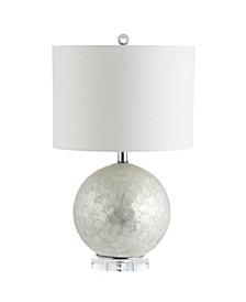 Zuri Capiz Seashell Sphere Led Table Lamp