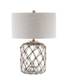 Mer Glass and Rope Led Table Lamp