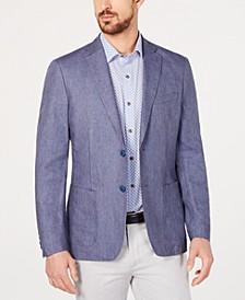 Men's Slim-Fit Blue Stripe Sport Coat