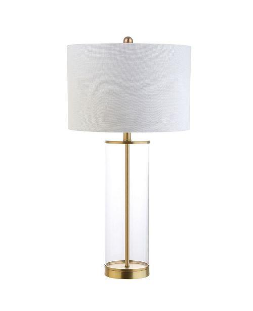 JONATHAN Y Collins Glass Led Table Lamp