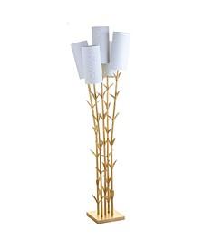 5-Light Brass Led Floor Lamp