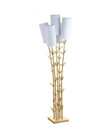 JONATHAN Y 5-Light Brass Led Floor Lamp