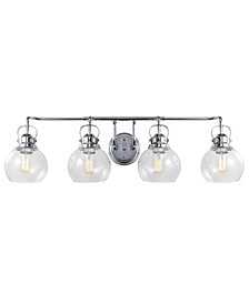 Shirley 4-Light Metal, Bubbled Glass Vanity Light