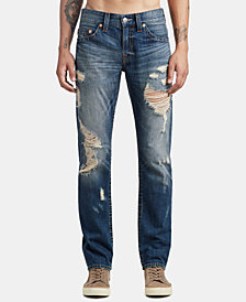 True Religion Mens Slim-Fit Ripped Jeans