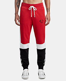True Religion Men's Tri-Color Panel Jogger Sweatpants