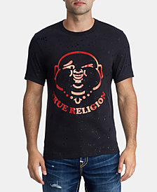 True Religion Mens Winking Buddha Graphic T-Shirt