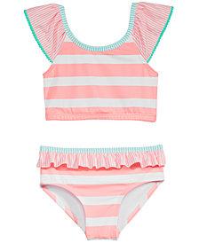 Penelope Mack Little Girls 2-Pc. Striped Swimsuit