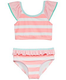 Penelope Mack Little Girls 2-Pc. Striped Swimsuit