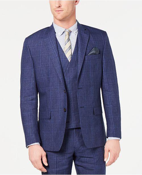 Lauren Ralph Lauren Men's Classic-Fit UltraFlex Stretch Blue Plaid Suit Jacket