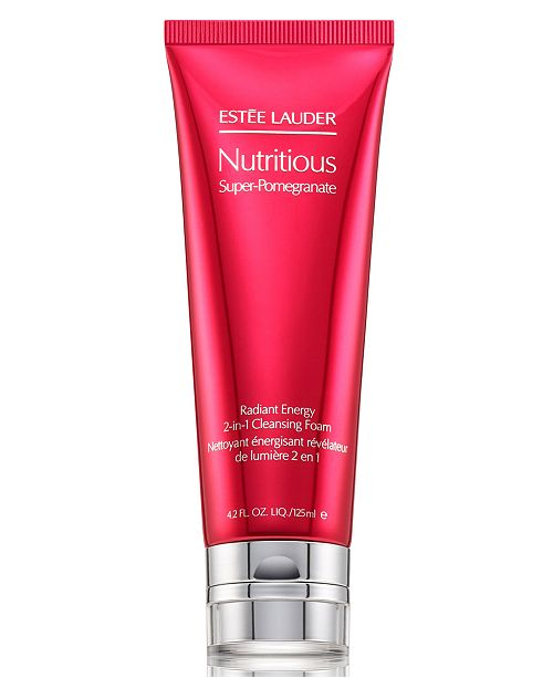 Estee Lauder Nutritious Super-Pomegranate Radiant Energy 2-In-1 Cleansing Foam, 4.2 oz.