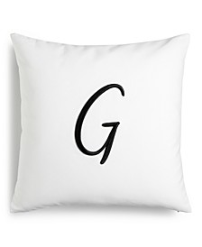 """CLOSEOUT! Initial 16"""" x 16"""" Decorative Pillow, Created for Macy's"""