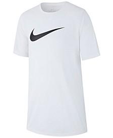 Big Boys Swoosh-Print T-Shirt